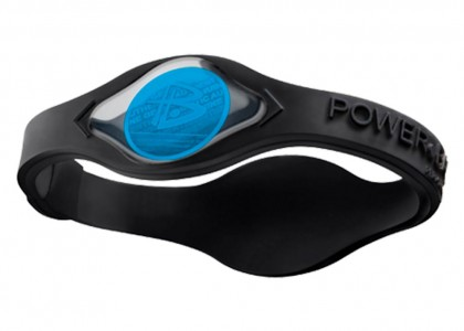 PULSEIRA POWER BALANCE BLACK COLLECTION  PRETA COM HOLO AZUL