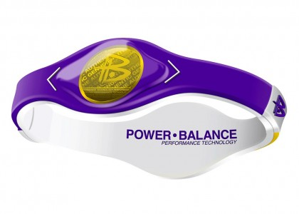 PULSEIRA POWER BALANCE GAME DAY SERIES ROXA COM AMARELO